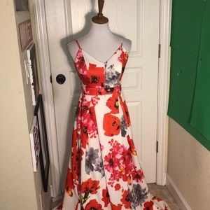 Floral prom Ballgown dress